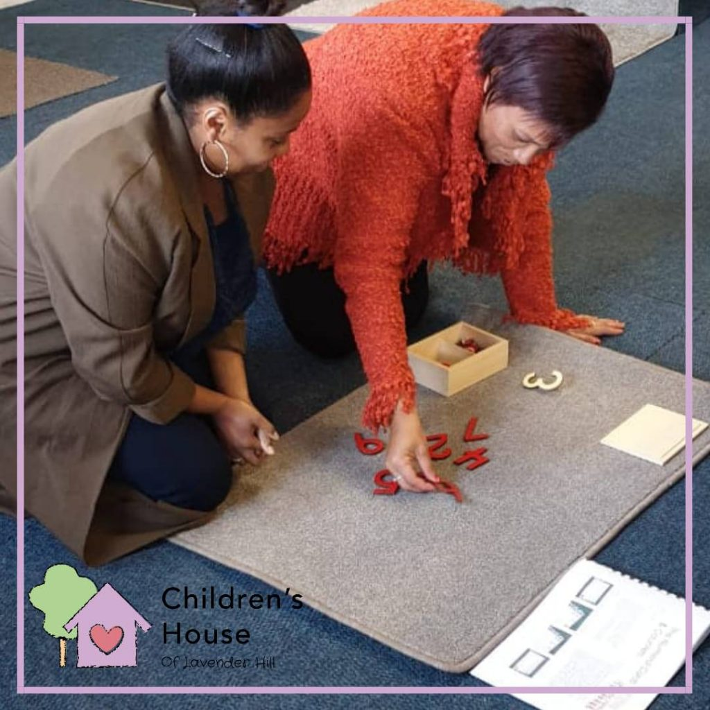 Neighbouring teachers taking part in a hands-on Maths workshop held in our classroom.