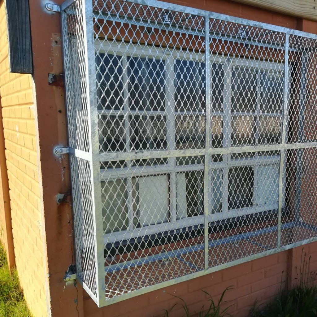 New window guards recently installed, funded by The Hill Pre-Primary so that the windows were able to open to meet compliance requirements.